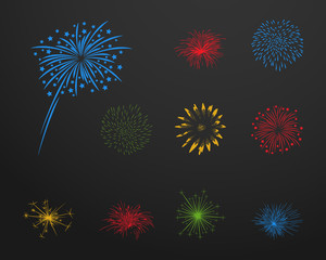 Silvesterfeuerwerk Iconset - Farbe