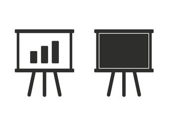 Diagram board - vector icon.