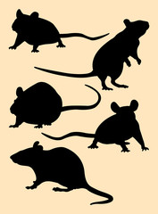 Mice, rat, mouse animal gesture silhouette. Good use for symbol, logo, mascot, web icon, sign, or any design you want.