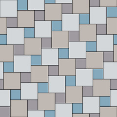 Vector pastel grey tiles seamless pattern, square grid textile print, abstract texture for fashion design