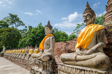 Ayutthaya (Thailand), Buddha statues in old temple ruins