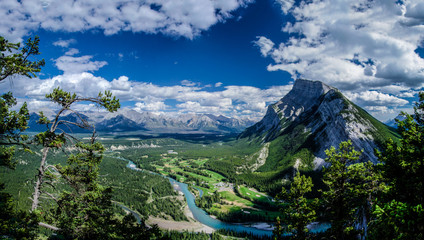 View of Mount Rundle from Tunnel Mountain in Banff