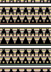 Dog tooth pattern
