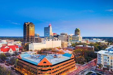Raleigh, North Carolina, USA downtown skyline.