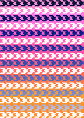 Hounds tooth pattern in multicolor