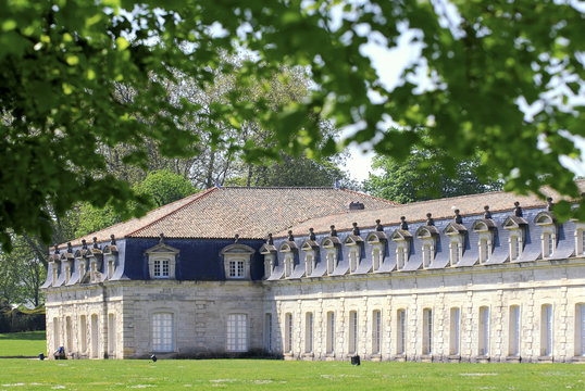 Panorama of the corderie royale in Rochefort, France
