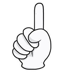 finger point hand / cartoon vector and illustration, hand drawn style, isolated on white background.