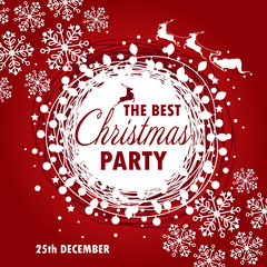 beautiful poster template for Christmas party