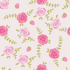 graphic print. Small floral pattern.
