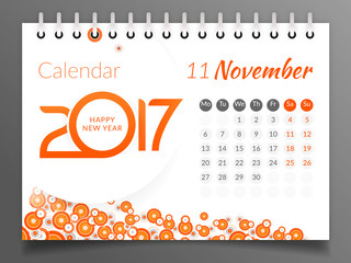 November 2017. Calendar 2017