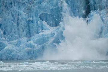Aluminium Prints Glaciers Icefall, Dawes Glacier, Alaska