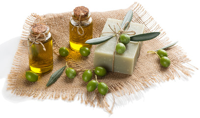 Olive oil and soap for SPA.
