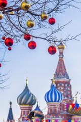 Christmas decoration Red Square in Moscow
