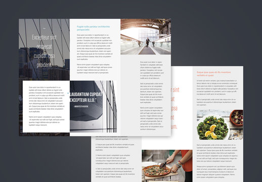 Brochure a tre pieghe professionali