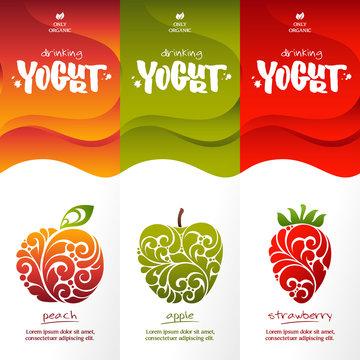 Stylish design for drinking yogurt