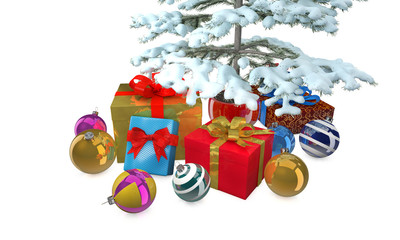 Christmas Presents With Tree