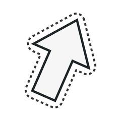 arrow technology isolated icon vector illustration design