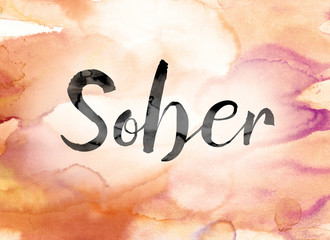 Sober Colorful Watercolor and Ink Word Art