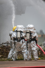 Fire departments & emergency response teams suited up with PPE t