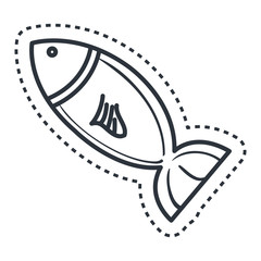 fish silhouette isolated icon vector illustration design