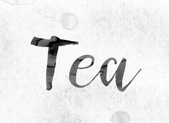 Tea Concept Painted in Ink