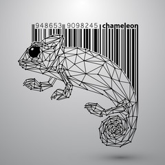 Chameleon from triangles and barcode.
