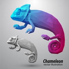 Chameleon from color triangles.