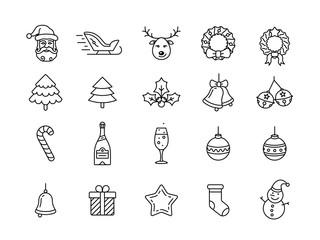 Christmas icons set - Simplus series