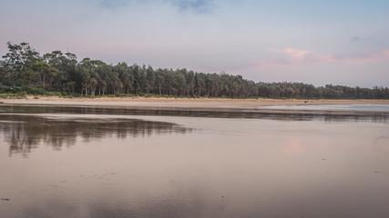 Early morning beach scene