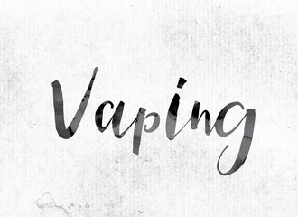 Vaping Concept Painted in Ink