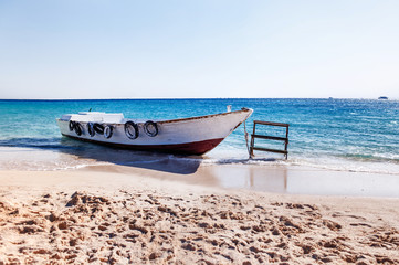 Boat on the seashore,