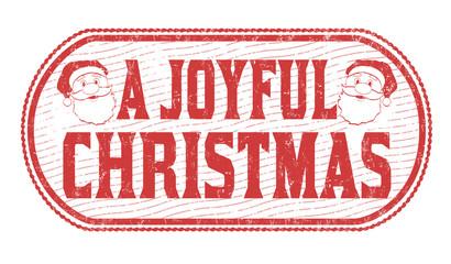 A joyful Christmas sign or stamp