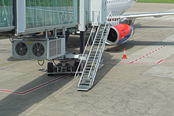Jet way stairs