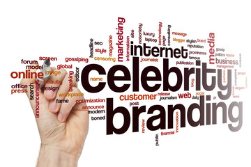 Celebrity branding word cloud concept