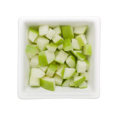 Diced green apple