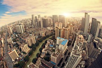China's urban landscape of chengdu