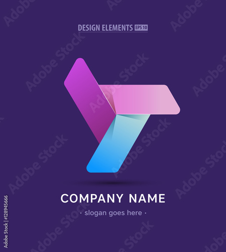 Vector Propeller Logo Sign App Twisted Icon In Material Design Style