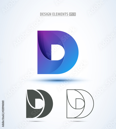d company vector logo sign and symbol design vector. Black Bedroom Furniture Sets. Home Design Ideas