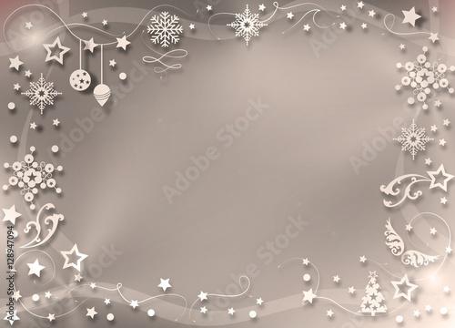 weihnachtlicher rahmen in sanftem sepia ton stock photo. Black Bedroom Furniture Sets. Home Design Ideas