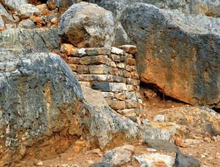 Archäologische Funde bei den Banias - Heiligtum des  Gottes Pan und Quelle eines Jordanzuflusses