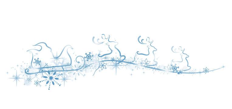 Rentierschlitten Weihnachten