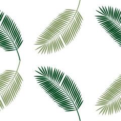 Palm Leaf Seamless Pattern Background. Vector Illustration.