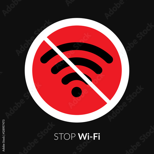 stop wifi striker icon sign not wi fi area symbol wireless