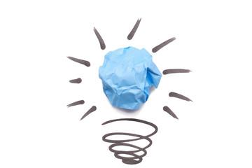 Crumpled Paper Light Bulb