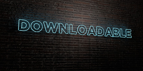 DOWNLOADABLE -Realistic Neon Sign on Brick Wall background - 3D rendered royalty free stock image. Can be used for online banner ads and direct mailers..