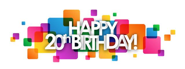 """""""HAPPY 20th BIRTHDAY"""" Card"""