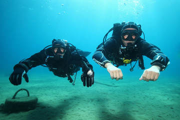 Professional scuba diver