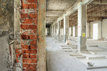 Building Renovated Construction Site Interior