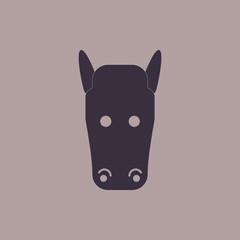 Vector illustration of animals on stylish background horse face