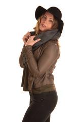 Frau in winterlicher Kleidung